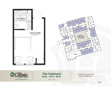 The Oakmont memory care floor plan