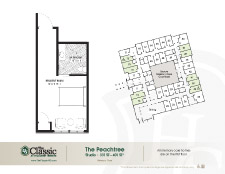 The Peachtree memory care floor plan
