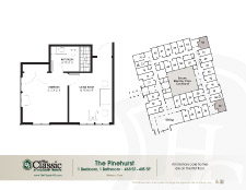 The Pinehurst memory care floor plan