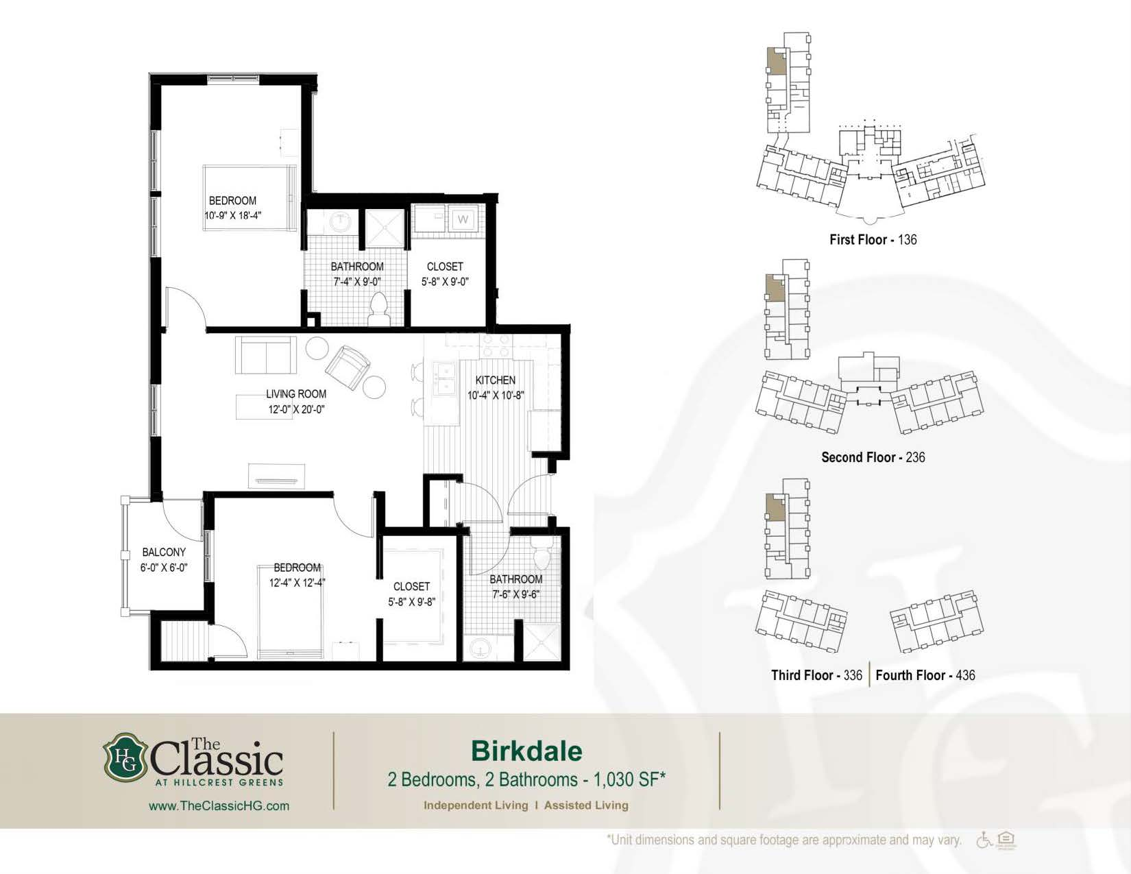 The Birkdale floor plan.