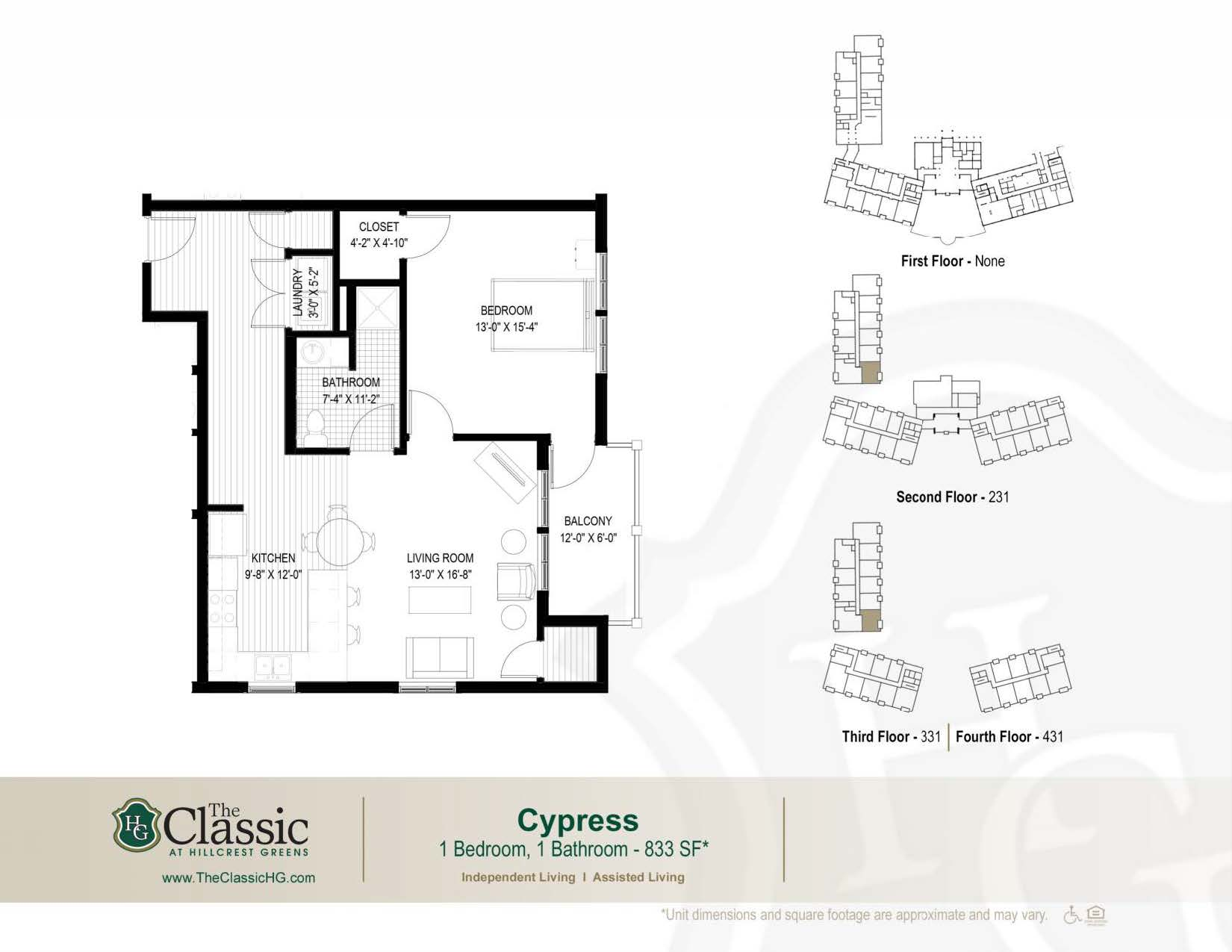 The Cypress floor plan.