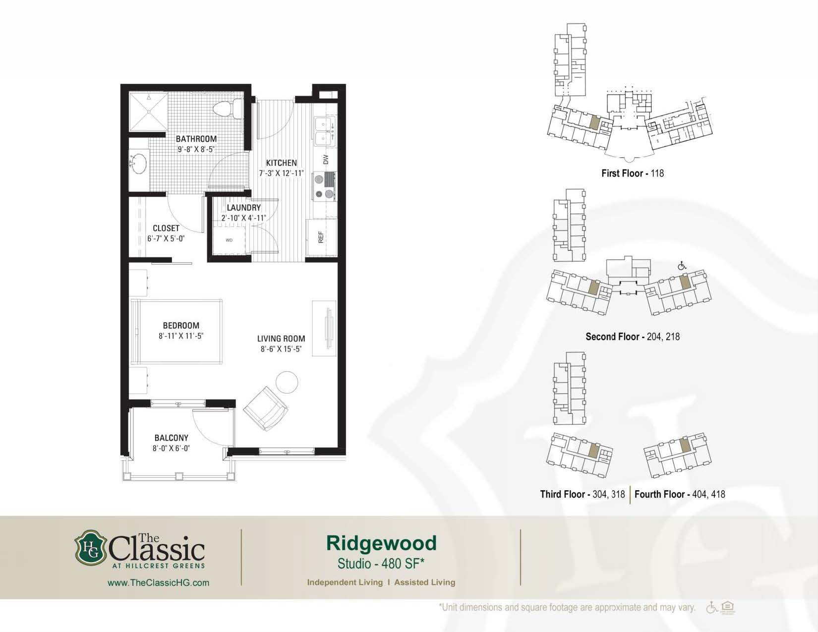The Ridgewood floor plan.